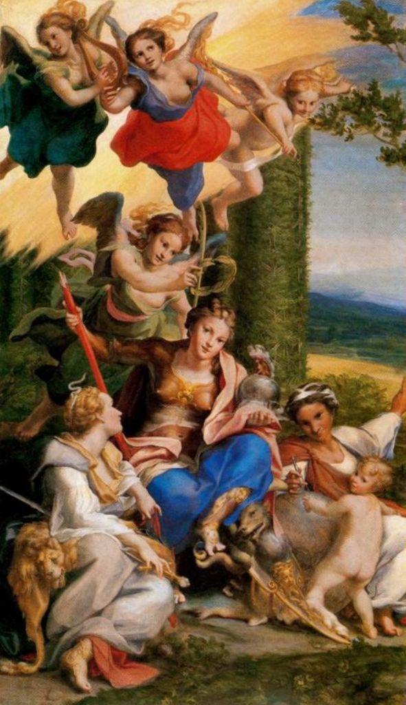 Аллегория добродетелей - Корреджо (1529-1530)