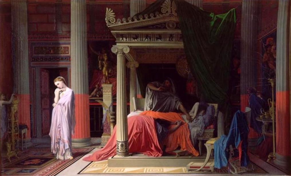 Антиох и Стратоника - Жан Огюст Доминик Энгр (1840, Музей Конде, Шантийи)