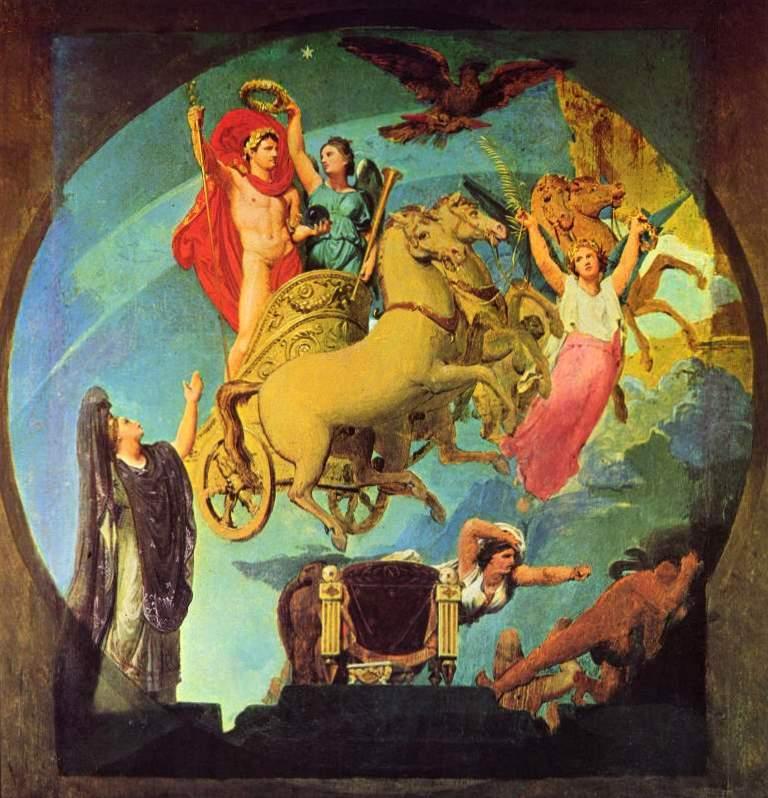 Апофеоз Наполеона I - Жан Огюст Доминик Энгр (1859-1863, Лувр, Париж)