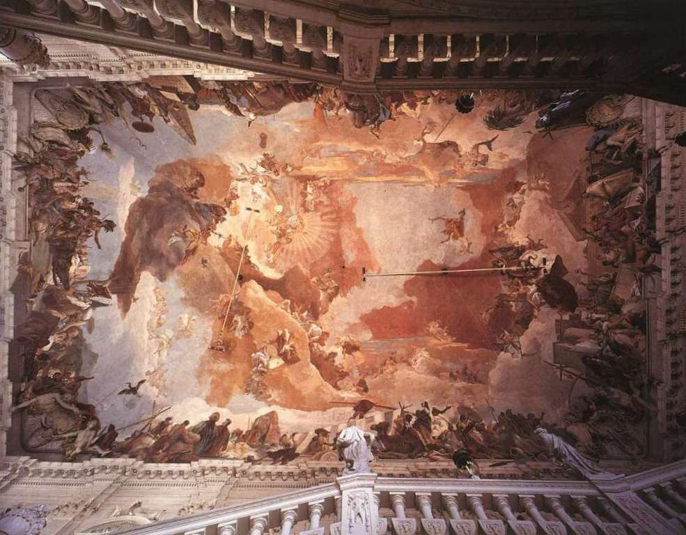 Аполлон и Континенты - Джованни Баттиста Тьеполо (1752 -1753)