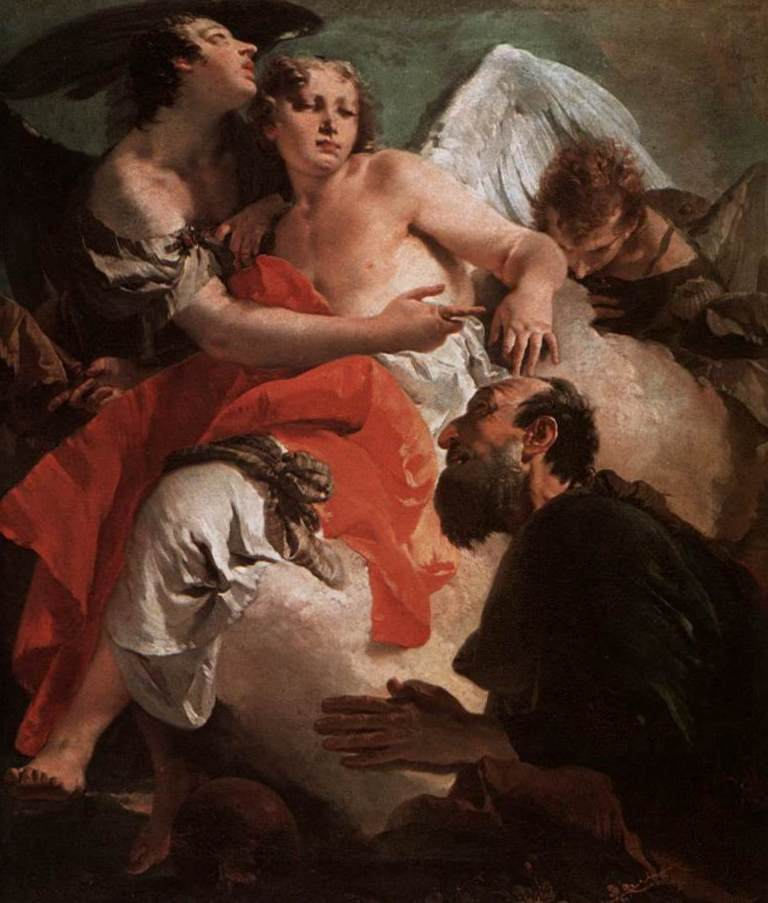Авраам и три Ангела - Джованни Баттиста Тьеполо (1730)