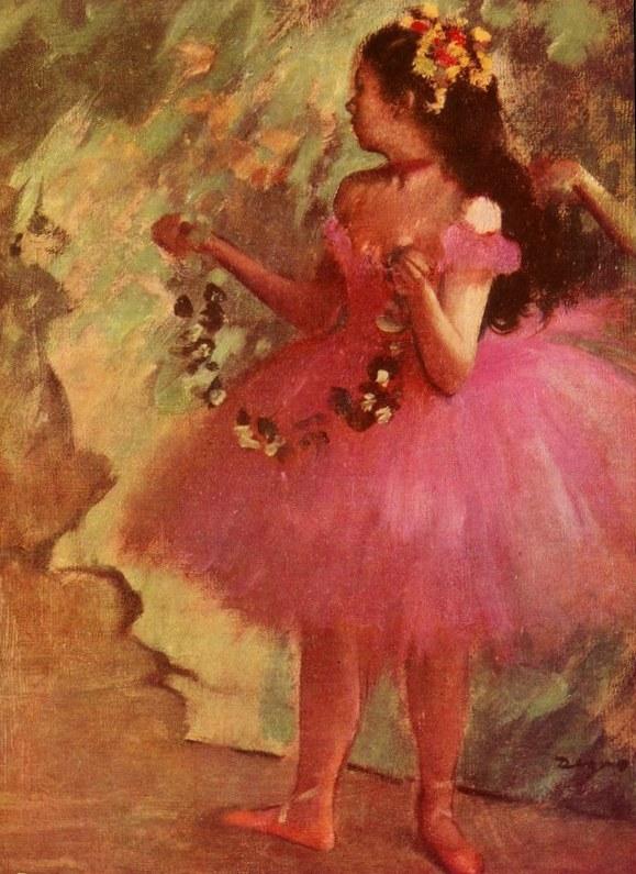 Балерина в розовом платье- Эдгар Дега (1880)