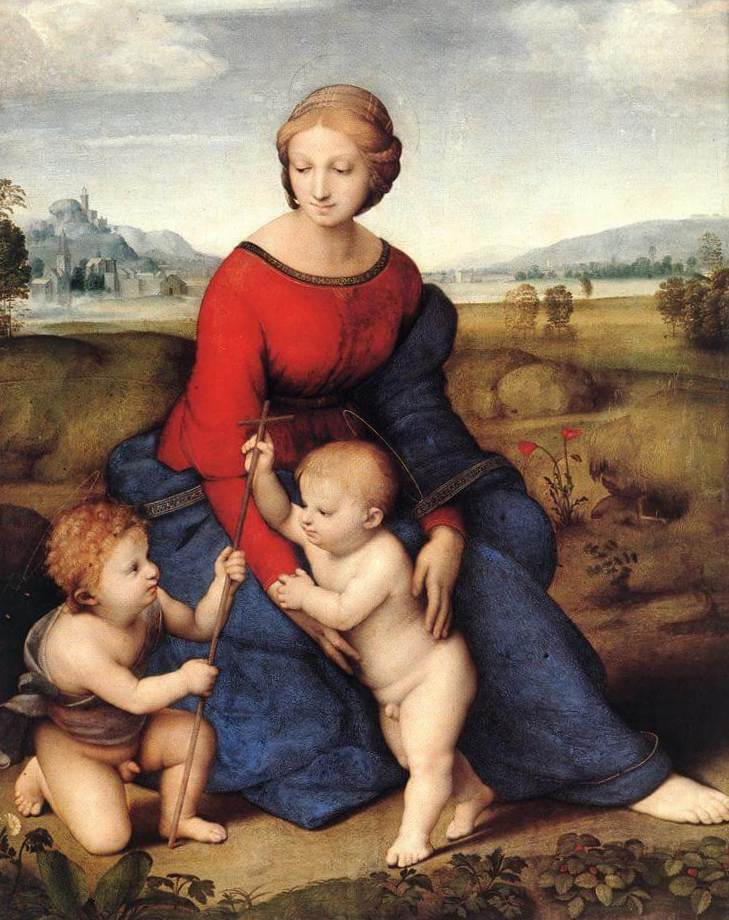 Бельведерская Мадонна - Рафаэль Санти (1506, Музей истории искусства, Вена)