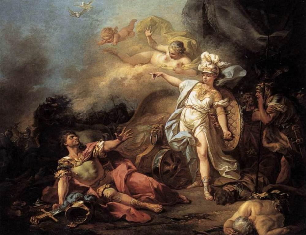 Битва Марса и Минервы - Жак Луи Давид (1771)