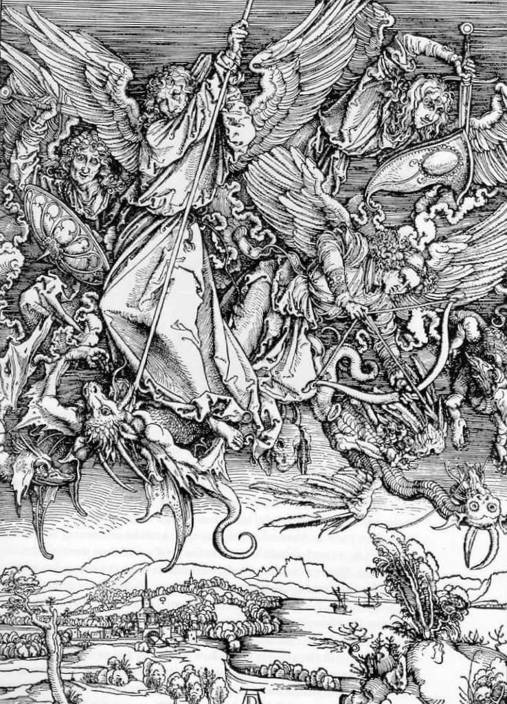 Битва Святого Михаила с драконом - Альбрехт Дюре (1497-1498)