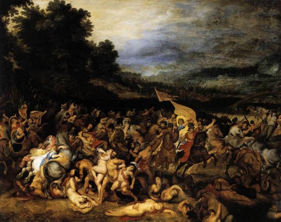 Битва амазонок - Питер Пауль Рубенс (ок. 1613—1618, Мюнхен)