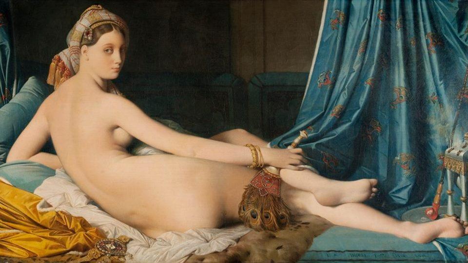 Большая Одалиска, 1814, Лувр. Энгр, Жан-Огюст-Доминик