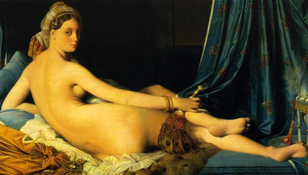 Большая Одалиска - Жан Огюст Доминик Энгр (1814, Лувр, Париж)