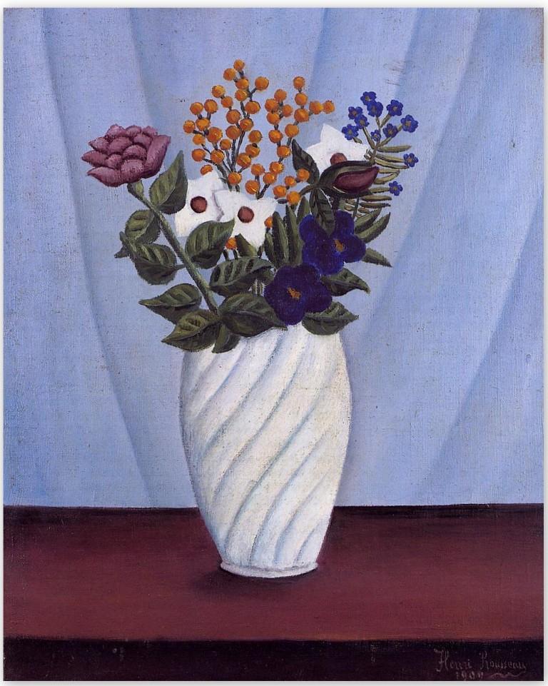 Букет цветов - Анри Руссо (1909)
