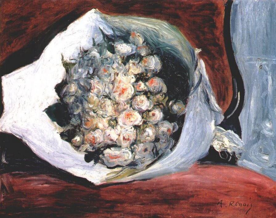 Букет в театральной ложе - Пьер Огюст Ренуар (1874, Институт Курто, Лондон)