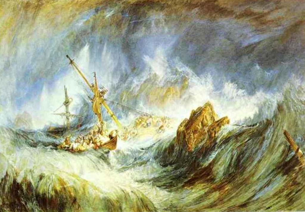 Буря (Кораблекрушение) - Уильям Тёрнер (1823)
