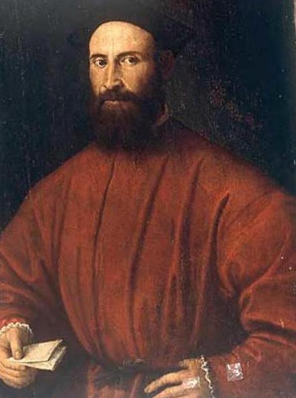 Человек с письмом - Лоренцо Лотто (1510)
