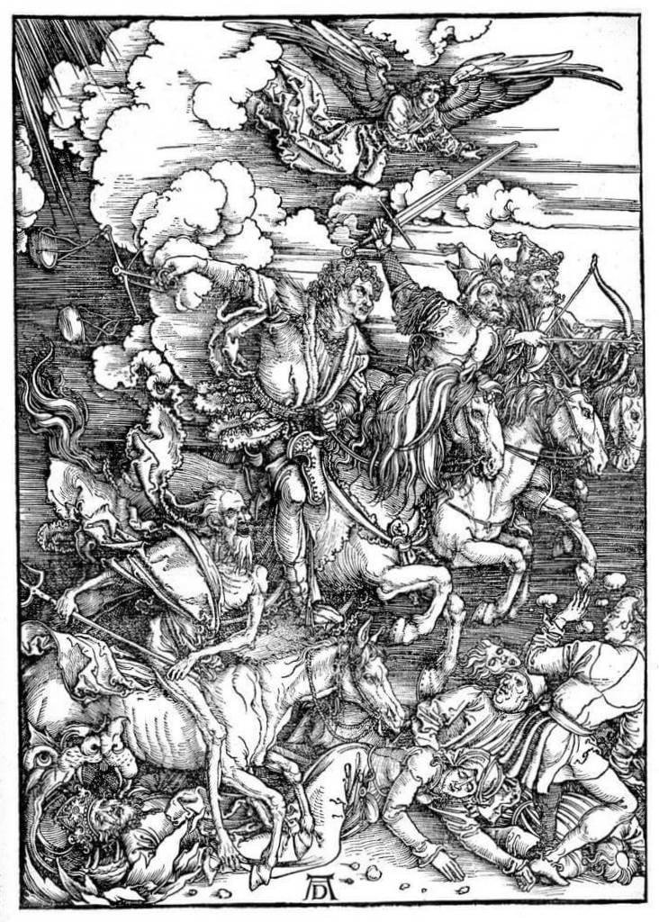 Четыре Всадника Апокалипсиса - Альбрехт Дюре (1498)