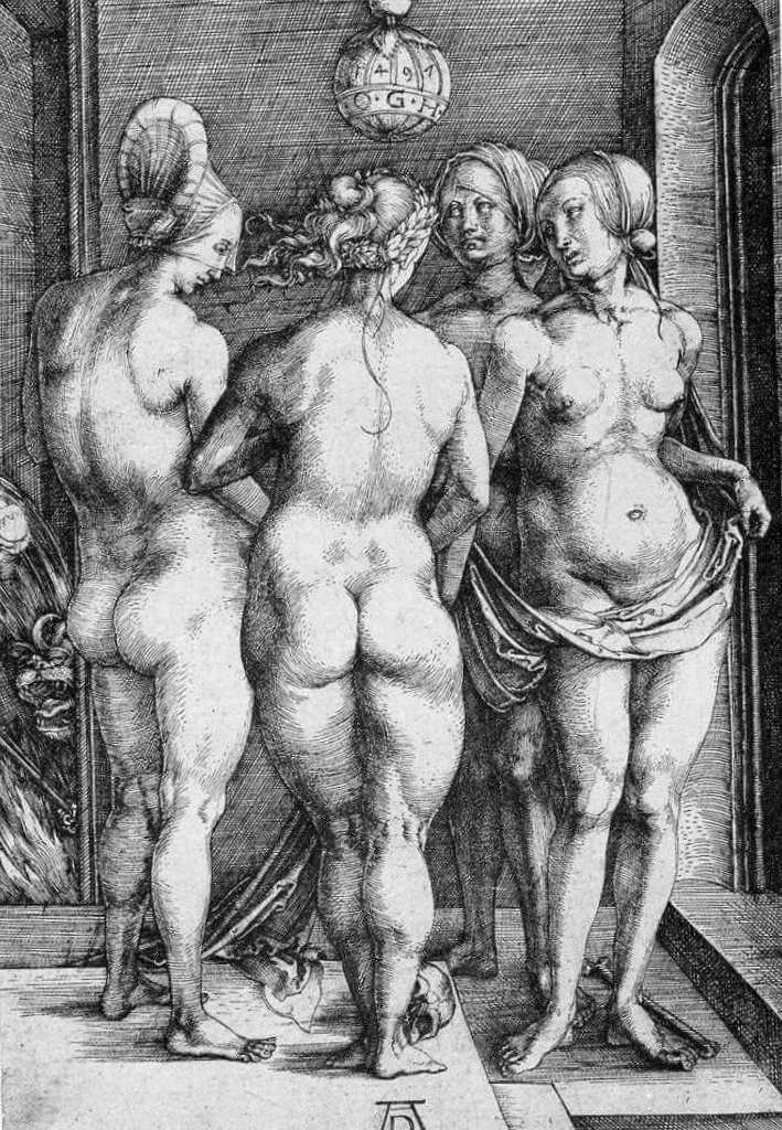 Четыре ведьмы - Альбрехт Дюре (1497)