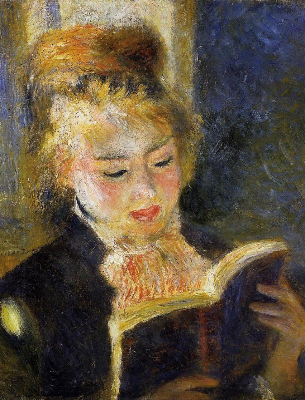 Читающая девушка - Пьер Огюст Ренуар (1874, Музей д'Орсэ, Париж)