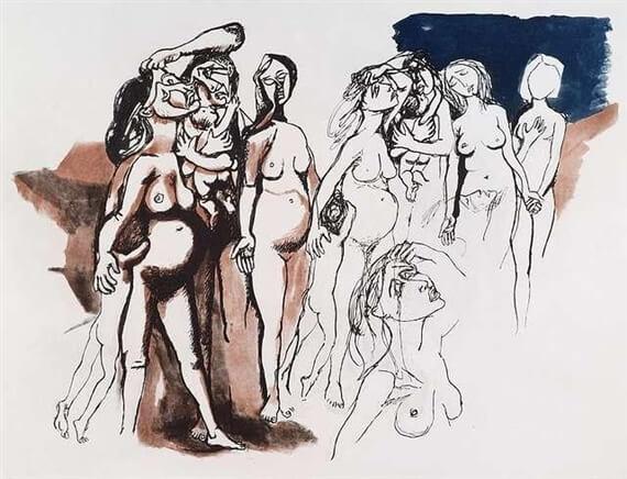 Дань Пикассо - Ренато Гуттузо (1972)