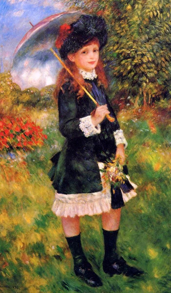 Девушка с зонтиком - Пьер Огюст Ренуар (1883)