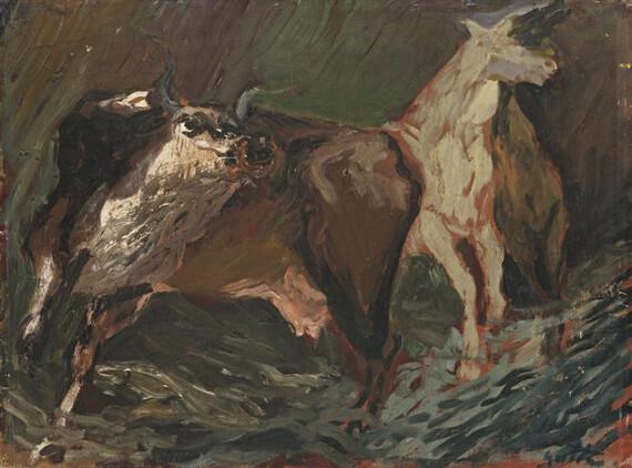 Домашние животные в ночи - Ренато Гуттузо (1935)