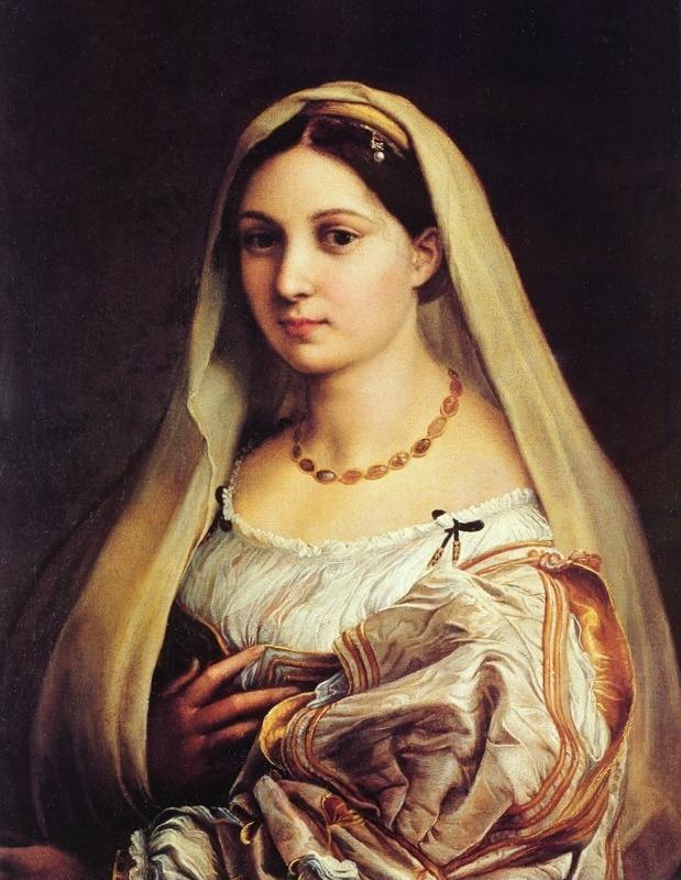 Донна Велата - Рафаэль Санти (ок. 1516, Палаццо Питти, Флоренция)