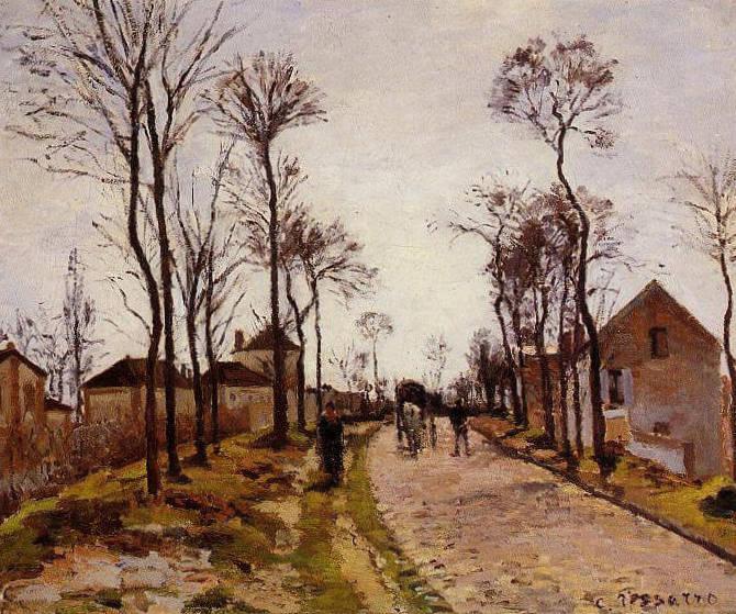 Дорога в Лувесьенне - Камиль Писсарро (1870, Музей д'Орсэ, Париж)