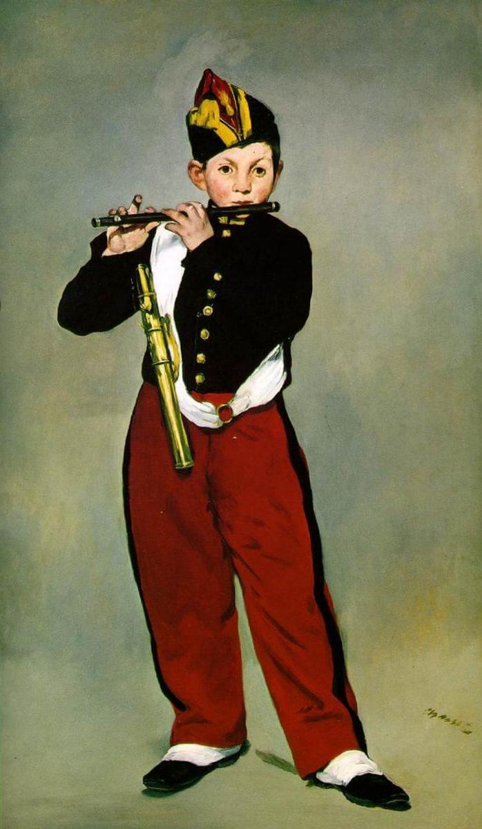 «Флейтист» - Эдуар Мане (1866, Музей д'Орсэ, Париж)