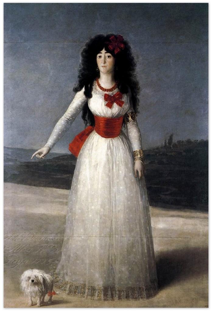 Франсиско Гойя - Герцогиня Альба, Белая княгиня (1795)