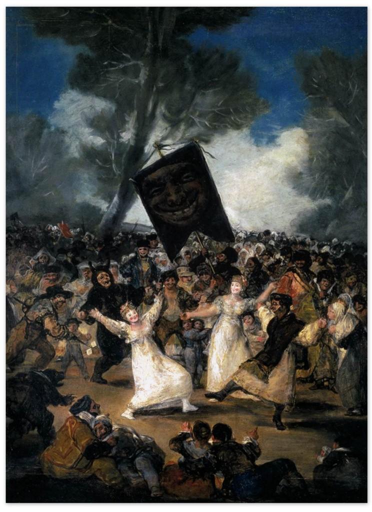 Франсиско Гойя - Похороны Сардинки (1814)