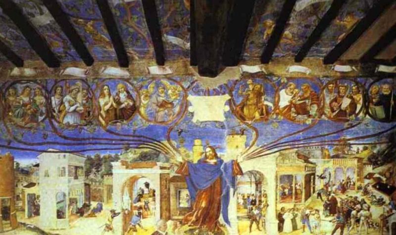 Фрески с Историей святой Варвары - Лоренцо Лотто (1524)