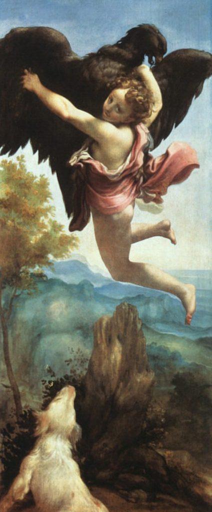 Ганимед - Корреджо (1530-1532, Музей истории искусства, Вена)