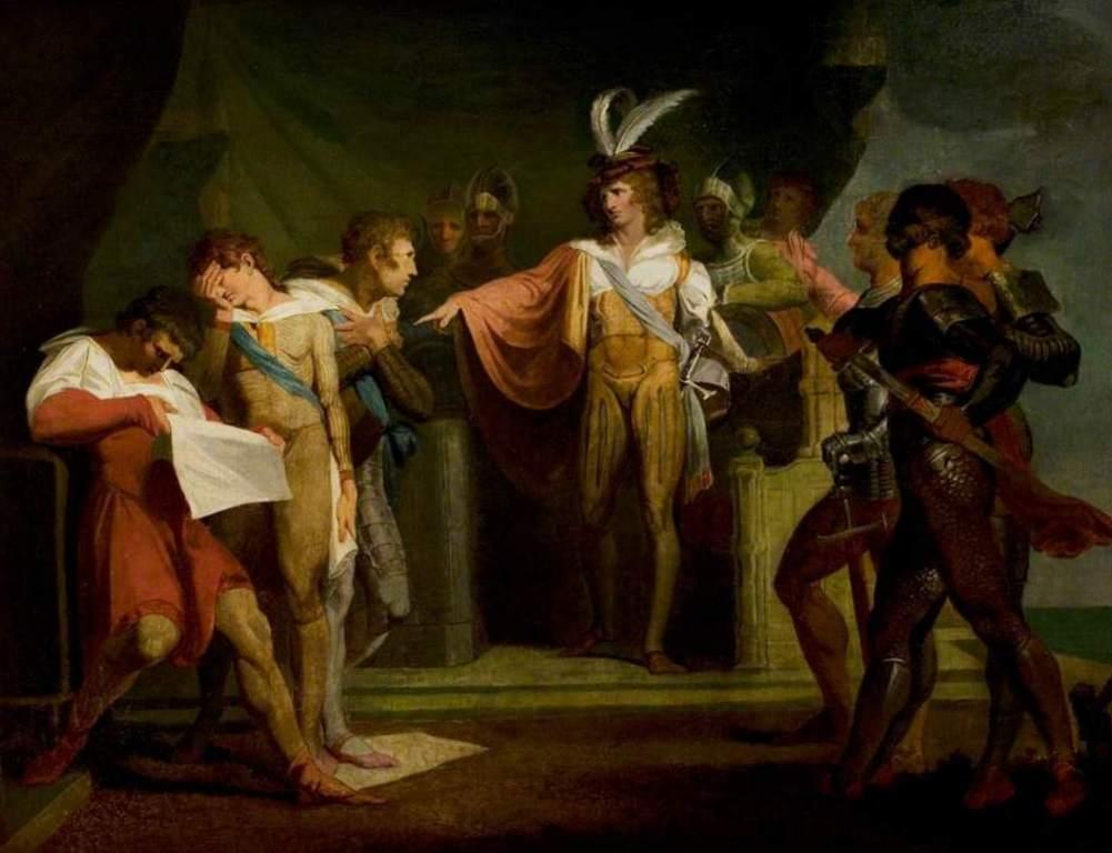 Генрих V разоблачение заговорщиков - Генриха Фюcсли (1780)