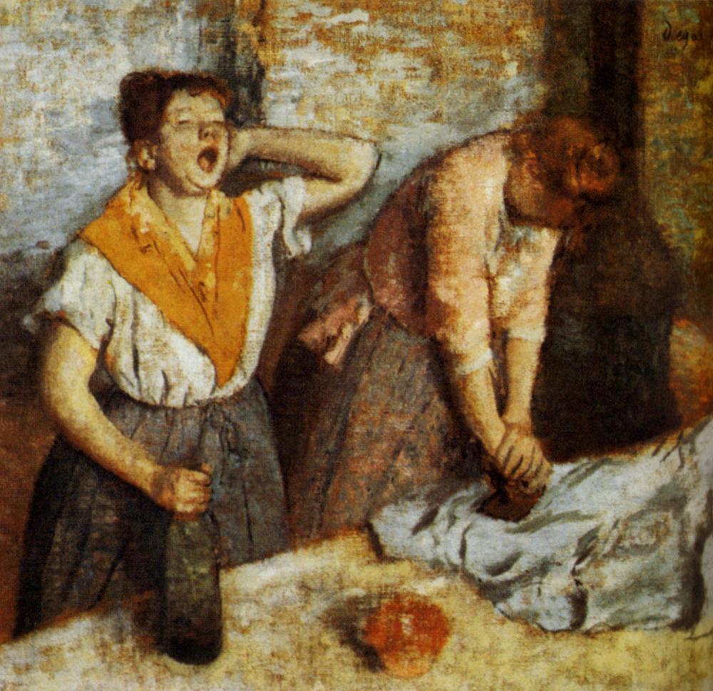 Гладильщицы - Эдгар Дега (1884)