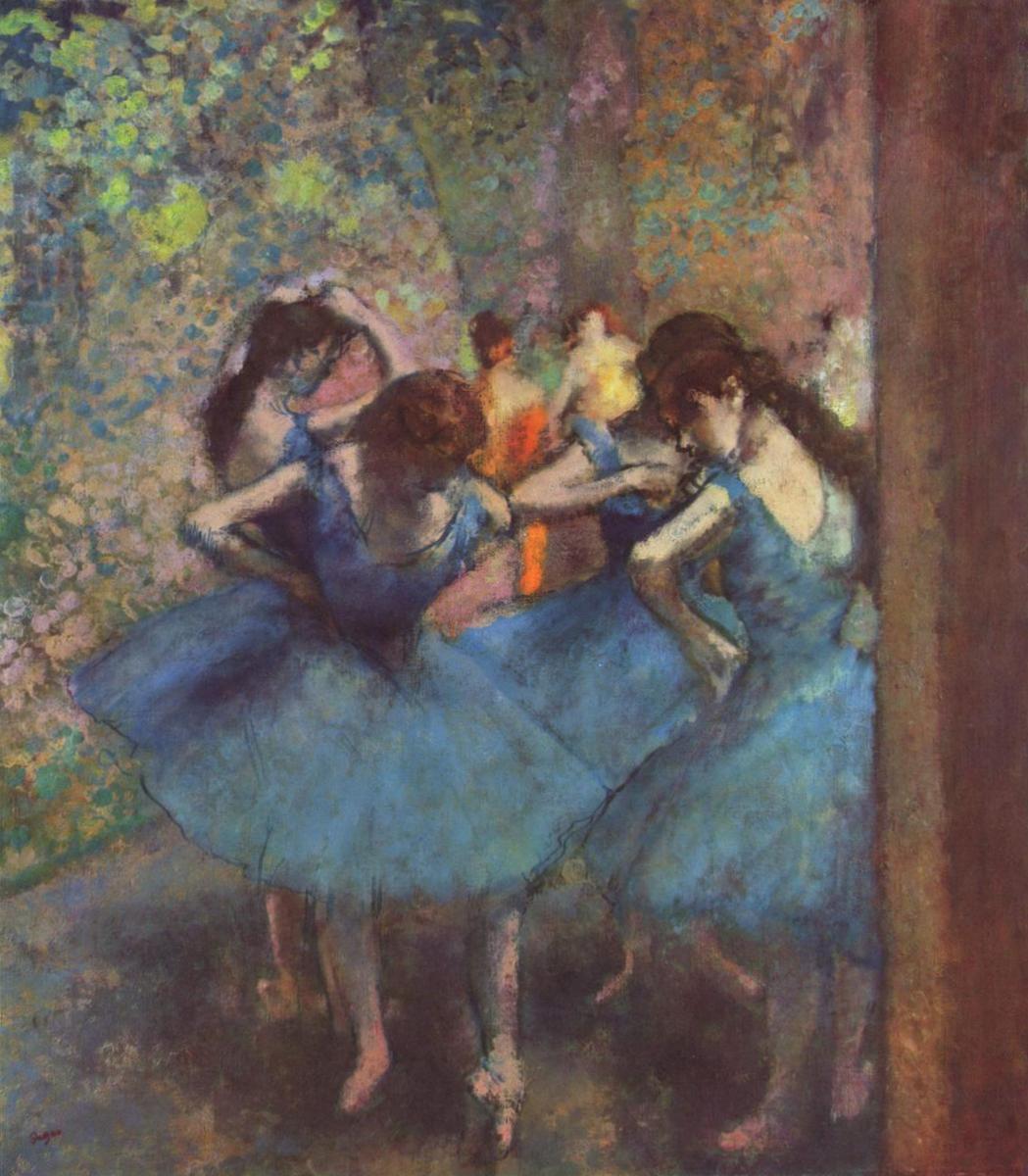 Голубые танцовщицы - Эдгар Дега (1881)
