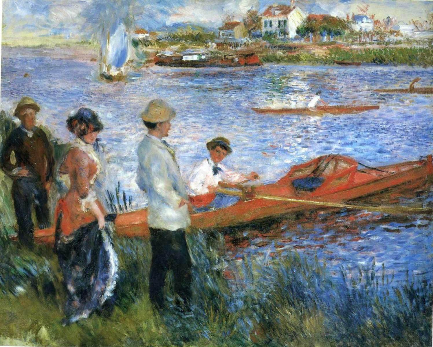Гребцы в Шату - Пьер Огюст Ренуар (1879, Национальная галерея, Вашингтон)