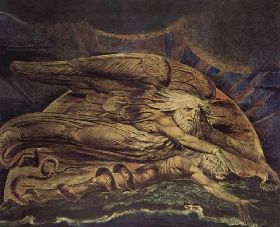 И Бог создал Адама - Уильям Блейк (1795)