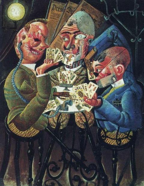 Игрок в скат - Отто Дикс (1920)