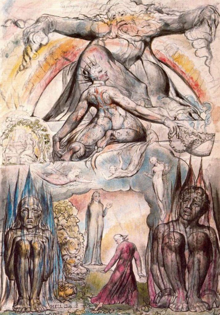 Иллюстрация к Божественной комедии Данте, ад - Уильям Блейк (180)