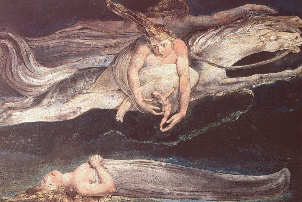 Иллюстрация к Данте Божественная комедия - Уильям Блейк (1795)