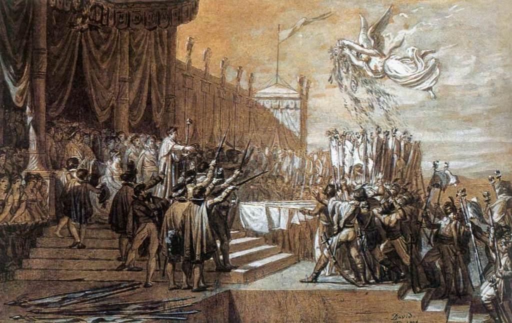 Император раздает награды - Жак Луи Давид (1810, Версаль)