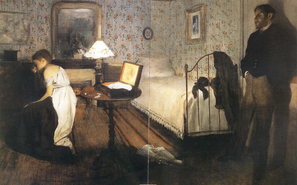 Интерьер (Изнасилование) Эдгар Дега (1868-1869)