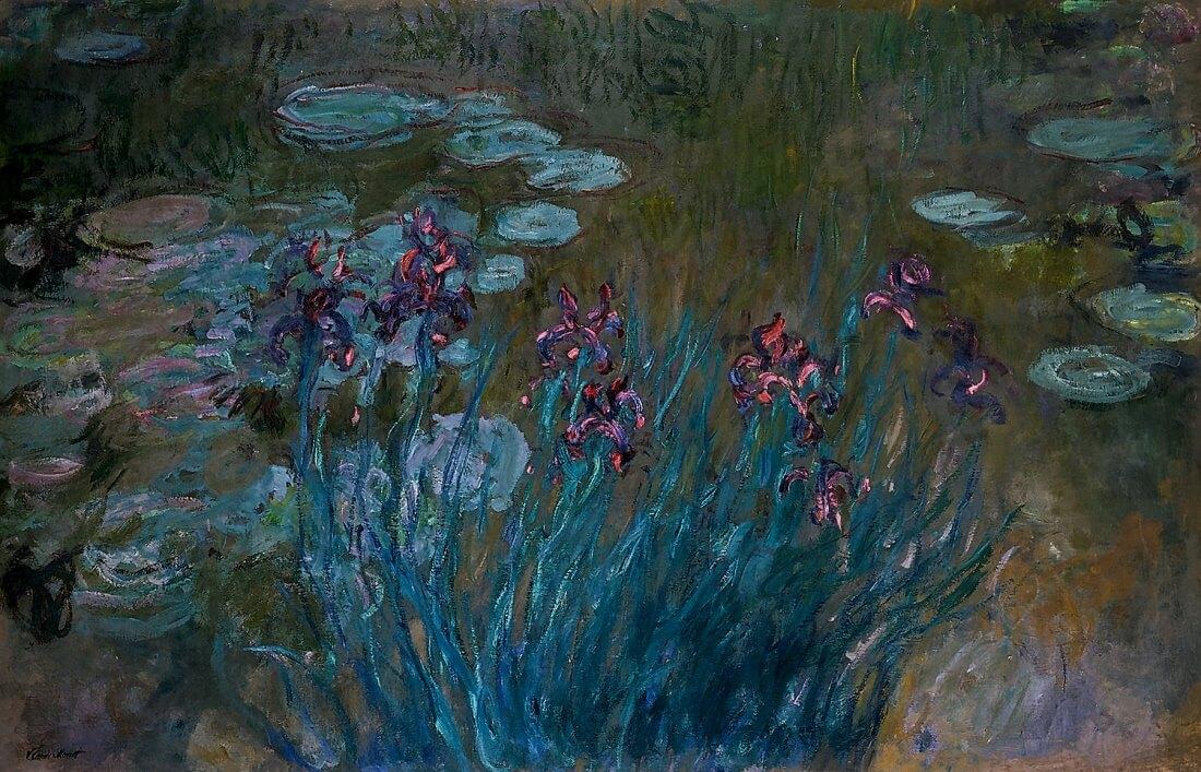 Ирисы и кувшинки - Клод Моне (1914 - 1917)