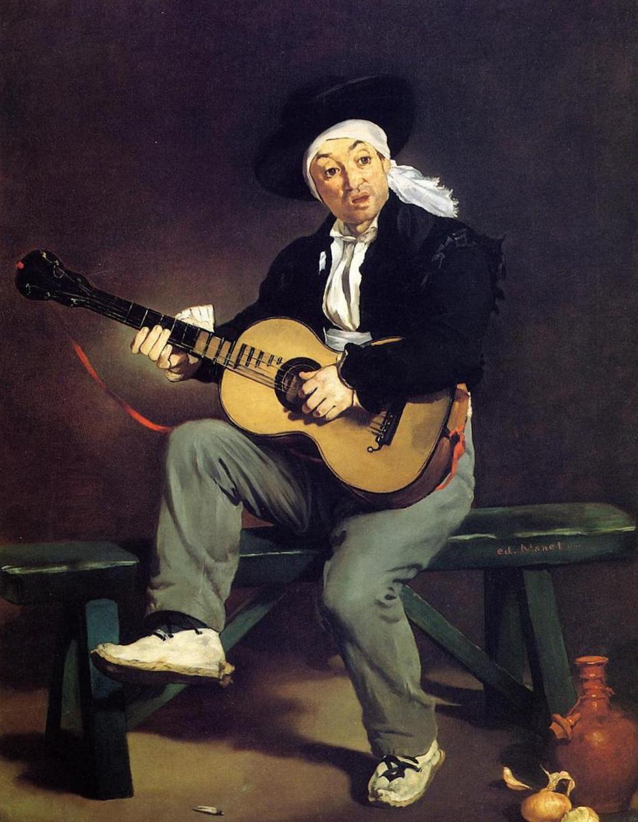 «Испанец, играющий на гитаре» - Эдуар Мане (1861, Метрополитен-музей, Нью-Йорк)