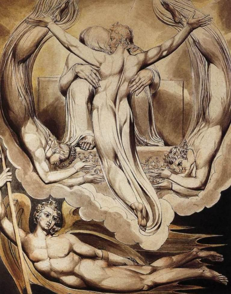 Христос, искупитель человека - Уильям Блейк (1808)