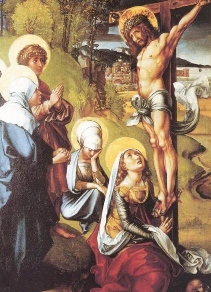 Христос на кресте - Альбрехт Дюре (1494 -1497)
