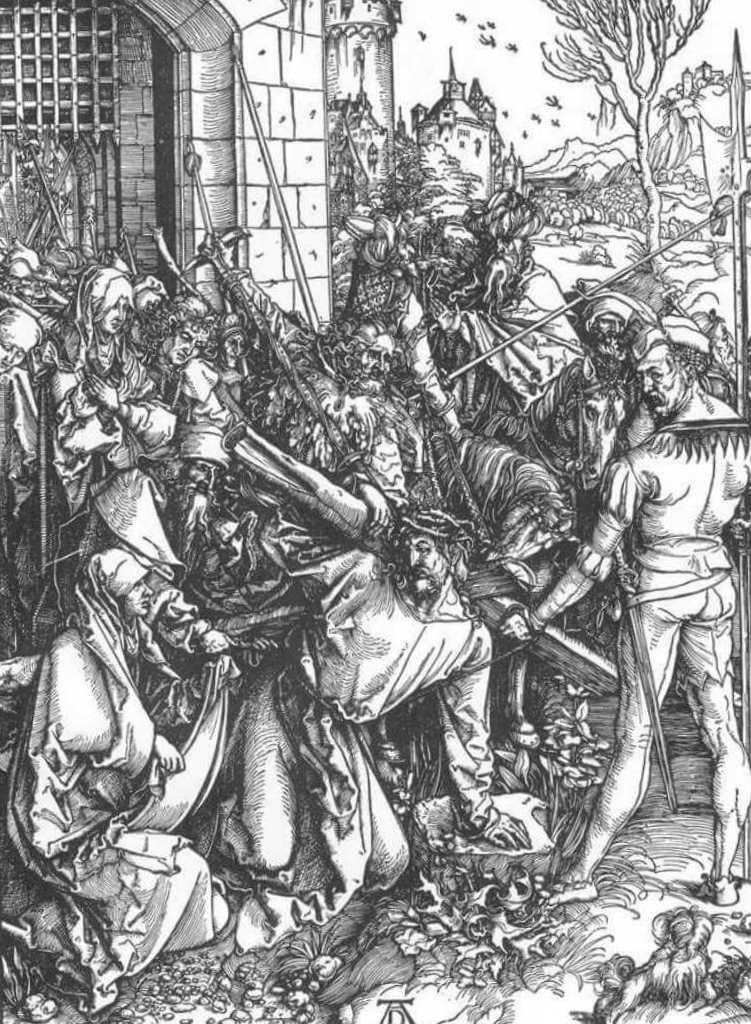 Христос, несущий крест - Альбрехт Дюре (1498)
