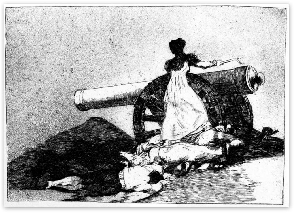 Какое мужество! Из серии Бедствия войны - Франсиско Гойя (1810-1820)