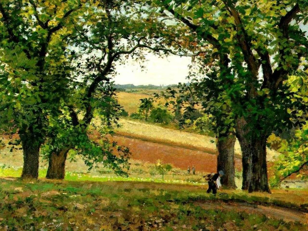 Каштаны, осень - Камиль Писсарро (1873, Музей д'Орсэ, Париж)