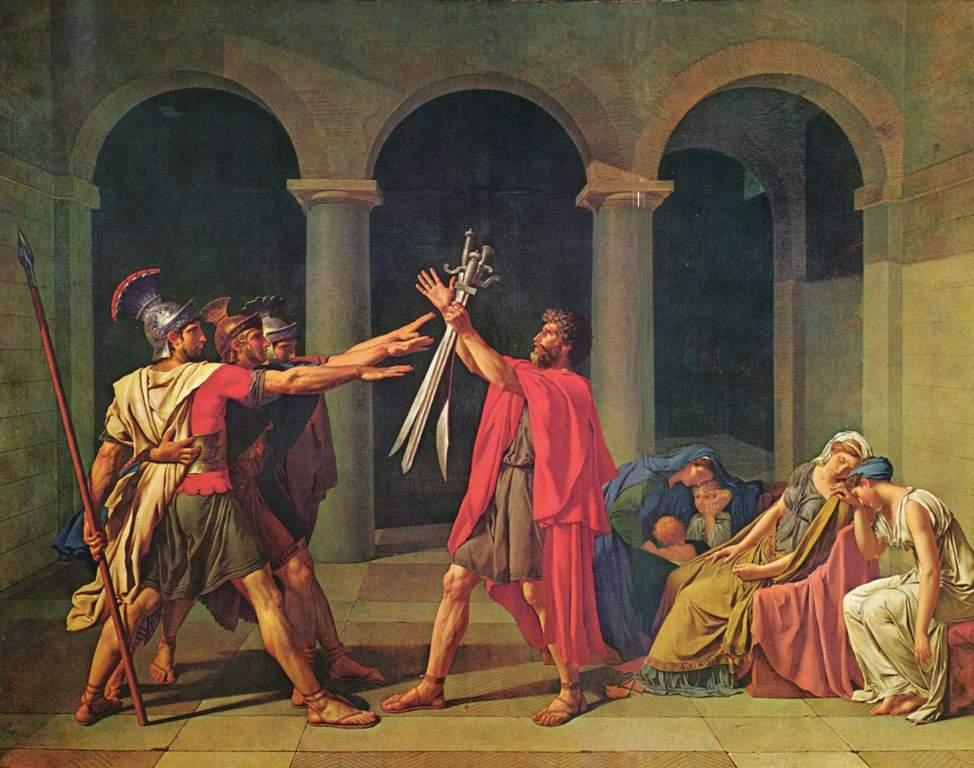 Клятва Горациев - Жак Луи Давид (1784, Лувр, Париж)