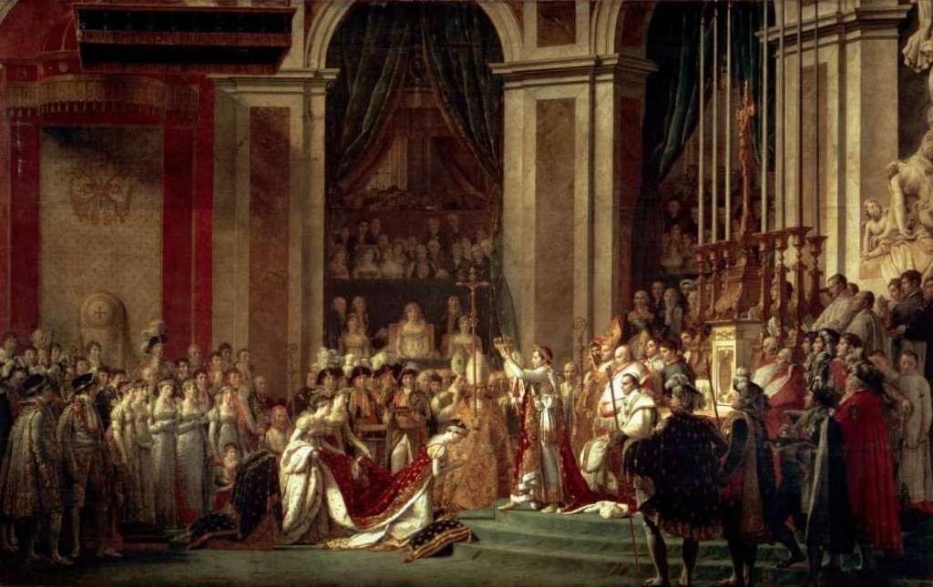 Коронация Наполеона - Жак Луи Давид (1805—1807, Лувр, Париж)