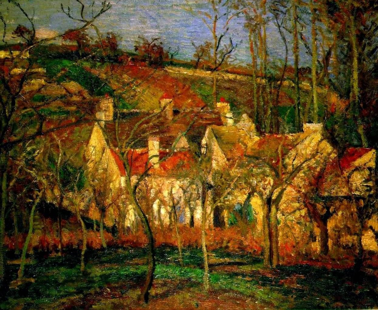 Красные крыши - Камиль Писсарро (1877, Музей д'Орсэ, Париж)