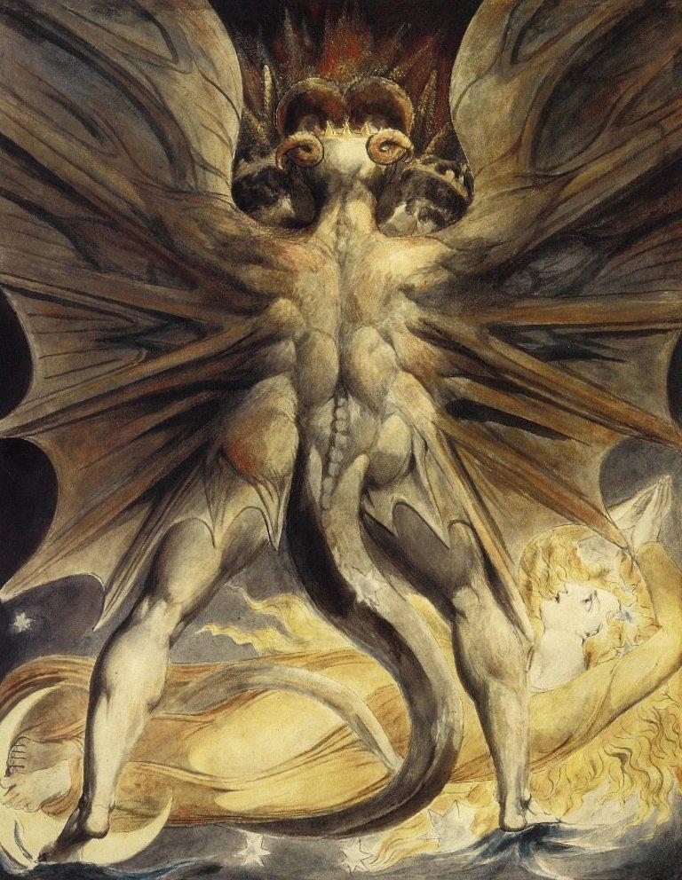 Красный дракон и женщина - Уильям Блейк (1803-1805)